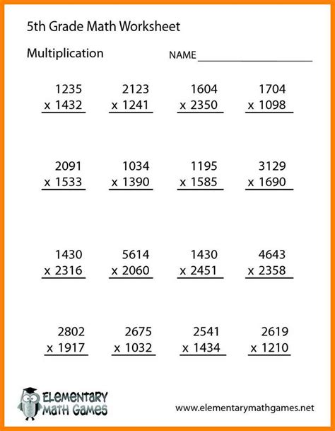 7 multiplication worksheets grade 5 kylin therapeutics