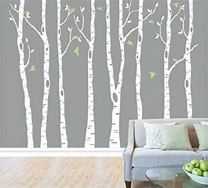 20 beautiful trees branches vinyl wall decals wall With white birch tree wall decal decorations