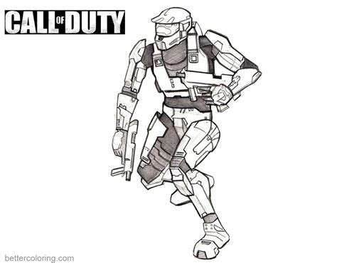 coloring pages of sketch of call of duty coloring pages free printable