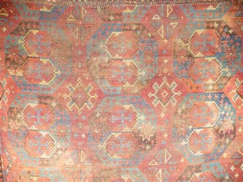 Exceptional Ersari Main Carpet; 18th Cent Unique Gul And