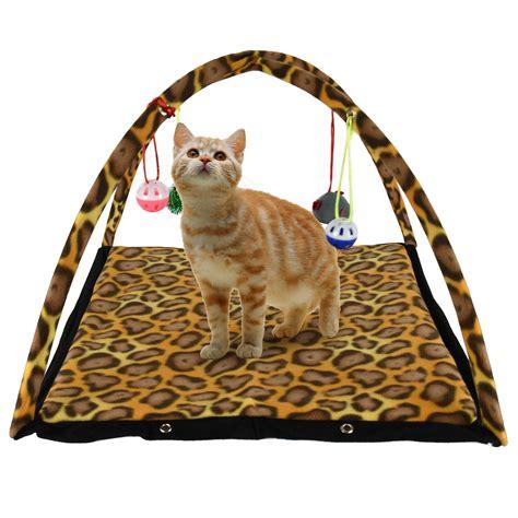 cat play mat pet cat kitten activity play tent mat bed foldable home