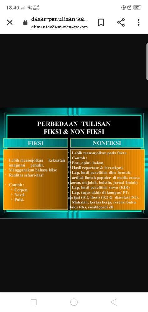 Tugas bahasa indonesia menilai buku fiksi dan non fiksi kelompok 5: Contoh Soal Essay Buku Fiksi Dan Non Fiksi - Goresan