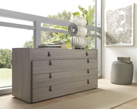 South Shore 6 Drawer Chest by Esprit Modern Open Pore Wood Veneer Grey Dresser