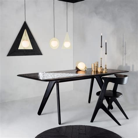 black and white table l furniture bauhaus modern black and white dining table