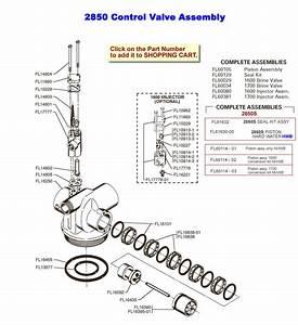 Fleck 2850 Control Valve Assembly
