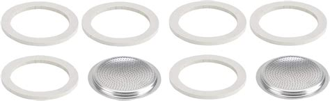 Bialetti moka pot fiammetta mavi 3 cup. Bialetti Replacement Gasket and Filter For 3 Cup Stovetop ...