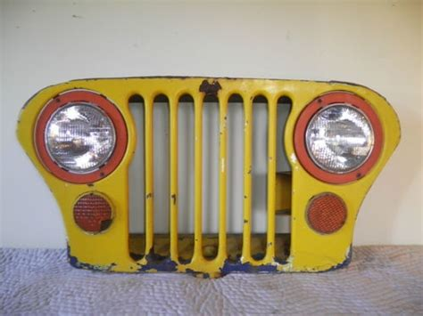 jeep grill art 1968 vintage jeep grille wall art sculpture jeep