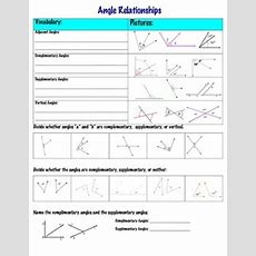 Angle Relationships Supplementary, Complementary, And Vertical By Math Maker
