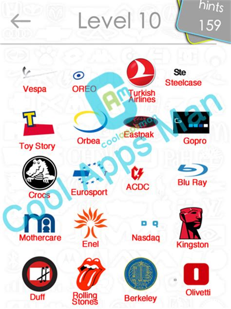 logo quiz answers updated level 10 15 cool apps man