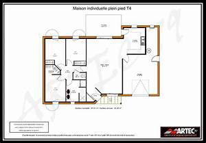 plan maison t4 With plan maison t4 plain pied