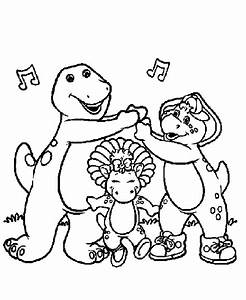 Barney coloring book picture