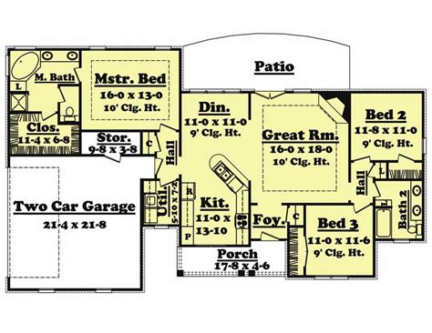 country house bedrms baths sq ft plan