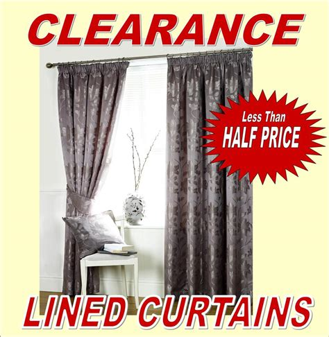 clearance sale lined curtains low prices