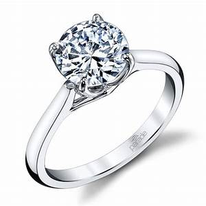 lyria crown cathedral solitaire engagement ring in white With crown design wedding rings