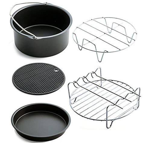 fryer air accessories pan baking mat basket grill farberware frying pizza stand plate multi pot inch kit piece amazon rack