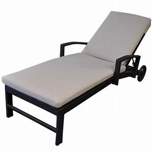 Miami Outdoor Sun Lounge Bed w/ Wheels in Charcoal Buy