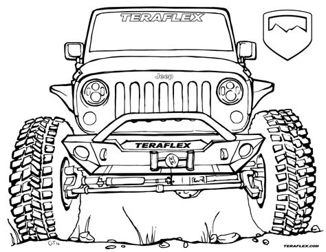 jeep front drawing gallery teraflex jeep coloring pages teraflex