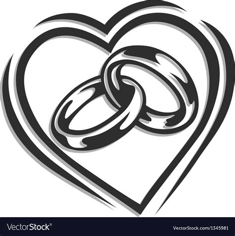 wedding ring in royalty free vector