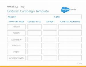 The editorial campaign template a great worksheet for for Campaign schedule template