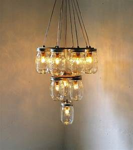 Mason jar chandelier wedding diy for vintage brides