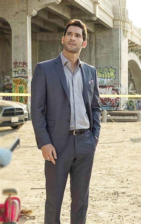 Lucifer Morningstar Black Suit Celebs Outfits Store