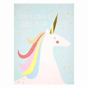 2 affiches arc en ciel et licorne rose meri meri pour With affiche chambre bébé avec livraison muguet