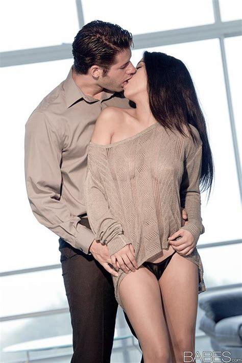 Latina Brunette Megan Salinas Kissing Man Before