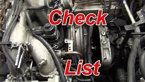 Subaru Engine Removal Checklist How-to