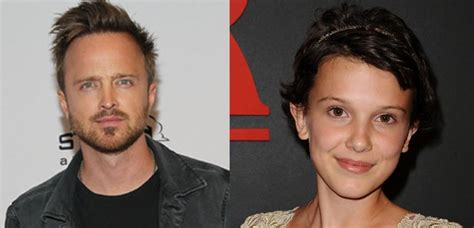 aaron paul interviews millie bobby brown aaron paul wants to adopt stranger things millie bobby