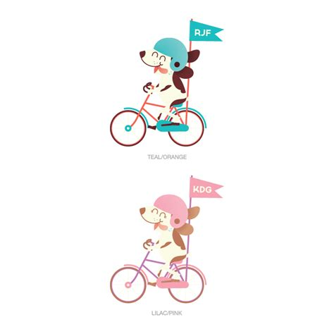 puppy riding  bike  letter monogram printed wall decals graphics stickers
