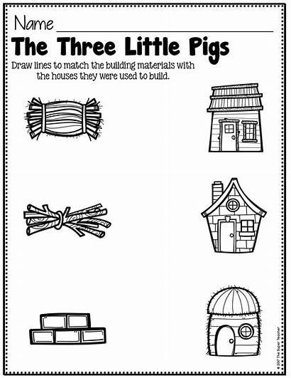 Three Pigs Worksheets Story Elements Simple Preschool