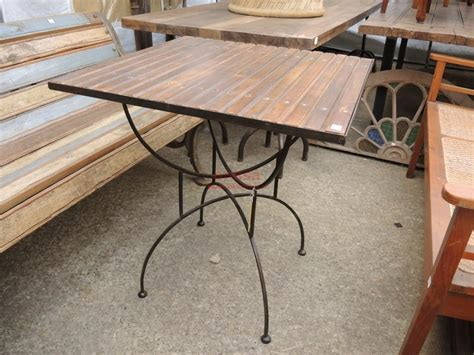 tavolo ferro legno tavolo base ferro piano legno per esterno per terrazzi