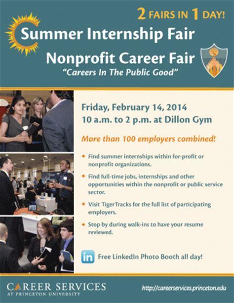 Summer Internship Fair & Nonprofit Career Fair2 Fairs In