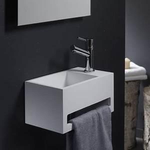 Petit Lave Main Wc : lave main gain de place avec porte serviette planetebain ~ Premium-room.com Idées de Décoration