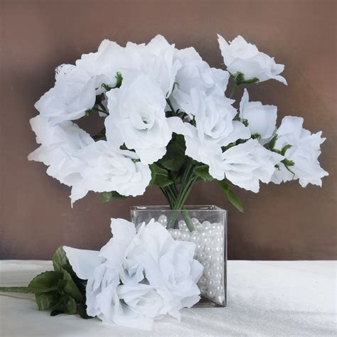 silk open roses wedding bouquets flowers centerpieces