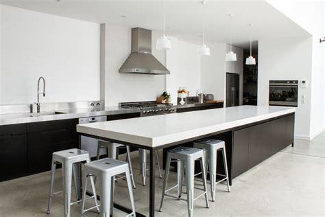 modern kitchen island bench rock legend lizotte 39 s warehouse conversion with