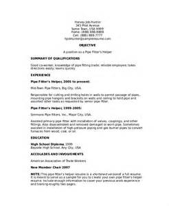 mechanical helper resume format pipefitter resume template 6 free word documents free premium templates