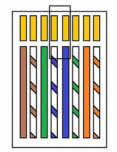 Ethernet  Cat6 Cable And Its Wire Order By Color