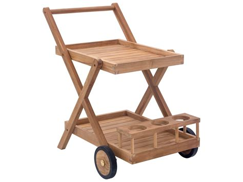 zuo outdoor regatta teak trolley in 703555