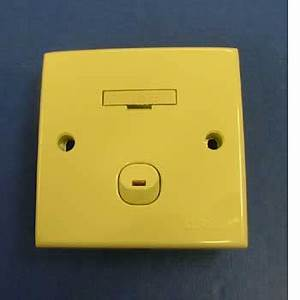 13A Fused Switch with Neon Beige Internal plugs sockets