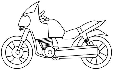 Desenhos De Motos Para Colorir