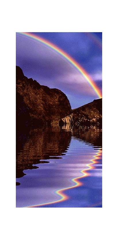 Beauty Rainbow Gifs Nature Landscapes Pretty Places