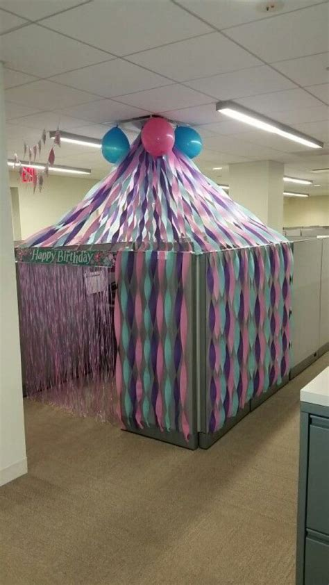birthday cubicle decorations   office besties
