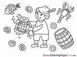 Coloring Beer Pages Mug Oktoberfest Children Sheet Sheets Title sketch template