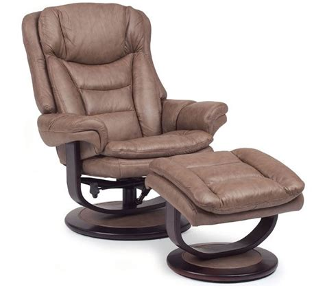 Impulse Recliner by Impulse 18540 Leather Swivel Recliner With Ottoman