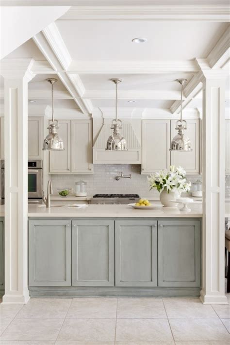 Turquoise Kitchen Decor Ideas - two tone kitchen cabinet ideas ugly duckling house
