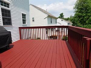 sherwin williams cedar stain deck pictures to pin on With barn red deck paint