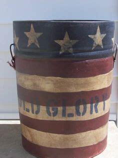 Shopgoodwill Patriotic Painted Vintage Milk Can
