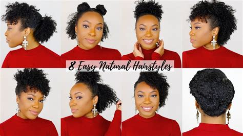 8 quick easy hairstyles for short medium natural hair