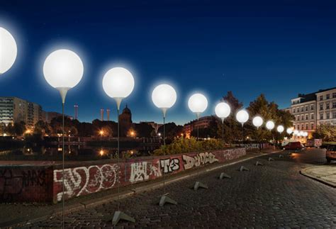cool stuff berlin wall light installation